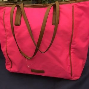 Banana Republic Riley Nylon Tote Hot Pink